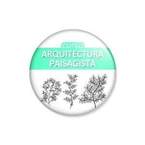 """crachá """"curso ARQUITECTURA PAISAGISTA"""""""