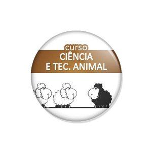 """crachá """"curso CIÊNCIA E TEC. ANIMAL"""""""