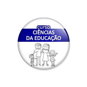 """crachá """"curso CIÊNCIAS DA EDUCAÇÃO"""""""