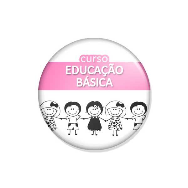 """crachá """"curso EDUCAÇÃO BÁSICA"""""""