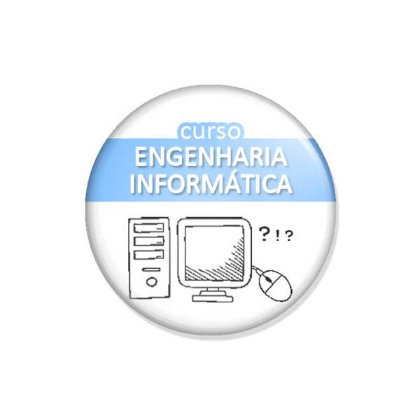 """crachá """"curso ENGENHARIA INFORMÁTICA"""""""