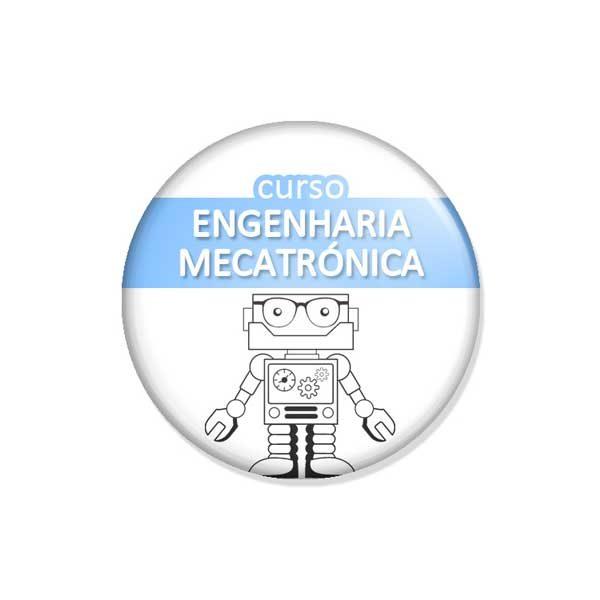 """crachá """"curso ENGENHARIA MECATRÓNICA"""""""