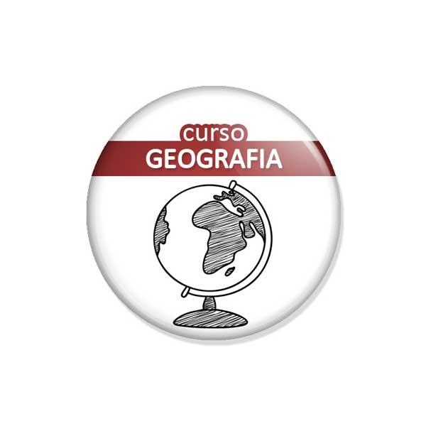 "crachá ""curso GEOGRAFIA"""