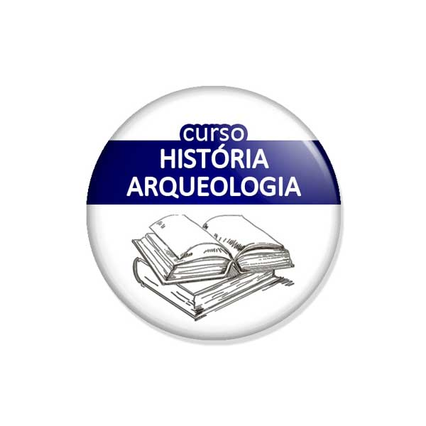 """crachá """"curso HISTÓRIA ARQUEOLOGIA"""""""