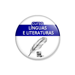 "crachá ""curso LÍNGUAS E LITERATURAS"""