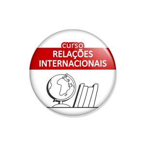 """crachá """"curso RELAÇÕES INTERNACIONAIS"""""""