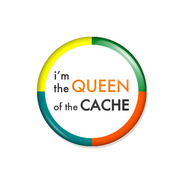 "crachá ou íman ""i'm the QUEEN of the CACHE"""
