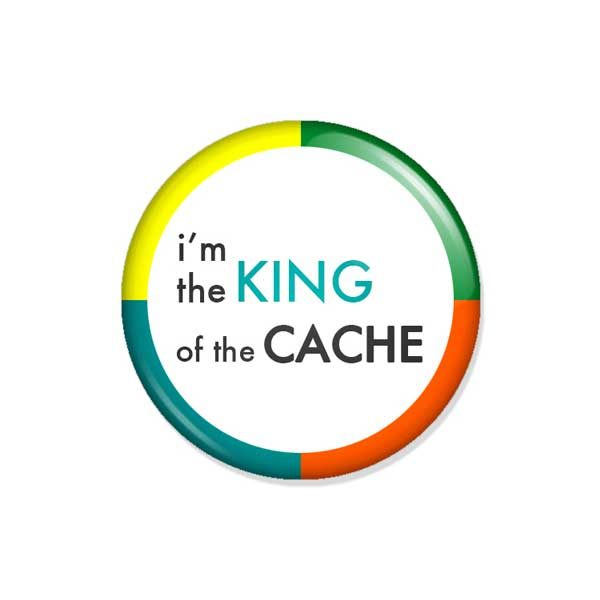 "crachá ou íman ""i'm the KING of the CACHE"""