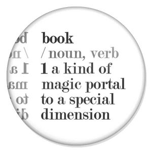 "espelho de bolso ""book /noun, verb 1 a kind of magic portal to a special dimension"""
