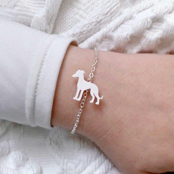 pulseira galgo branco