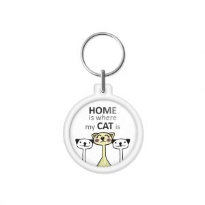"porta-chaves ""HOME is where my CAT is"""