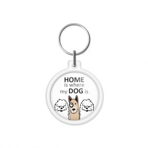 "porta-chaves ""HOME is where my DOG is"""