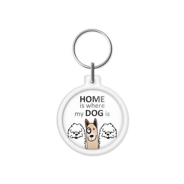 """porta-chaves """"HOME is where my DOG is"""""""