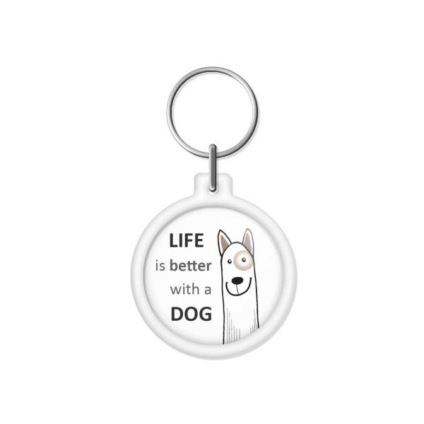 "porta-chaves ""LIFE is better with a DOG"""