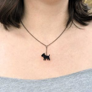 colar bull terrier preto