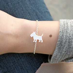 pulseira bull terrier branco