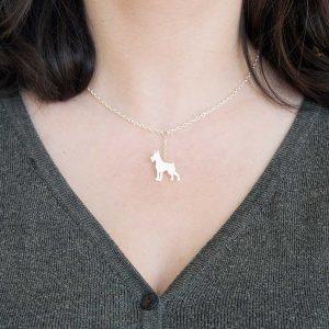 colar dobermann branco