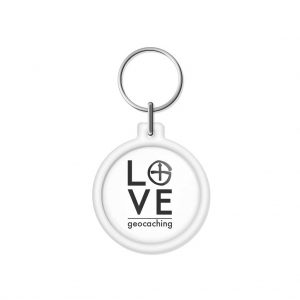 "porta-chaves ""LOVE geocaching"""