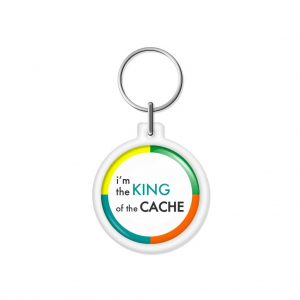 """porta-chaves """"i'm the KING of the CACHE"""""""
