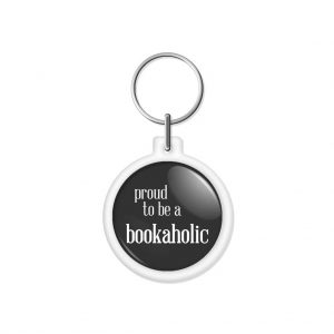 "porta-chaves ""proud to be a bookaholic"""