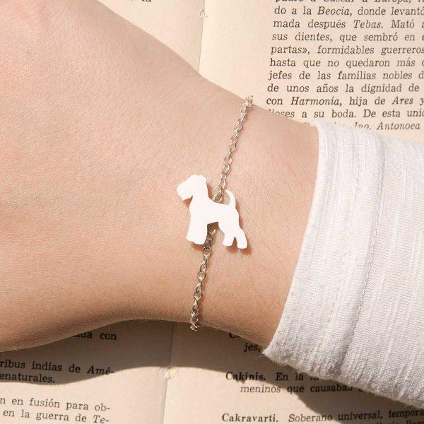 pulseira fox terrier branco