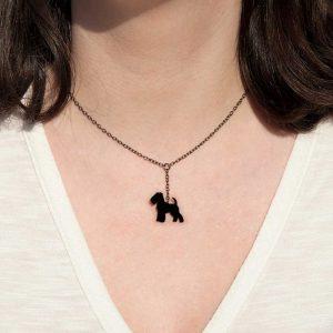 colar fox terrier preto