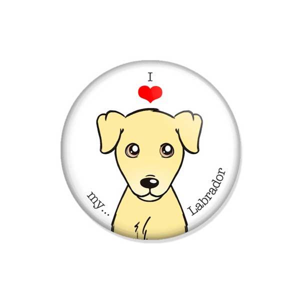 """crachá ou íman """"I love my Labrador"""""""