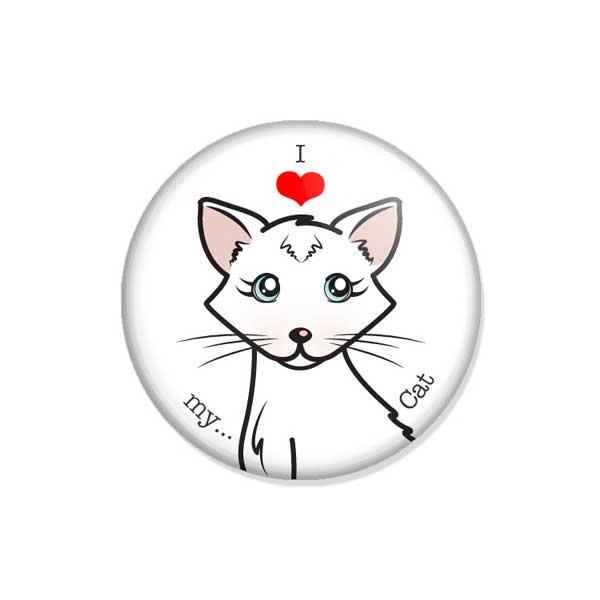 """crachá ou íman """"I love my Cat"""""""