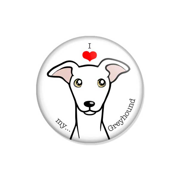 "crachá ou íman ""I love my Greyhound"""
