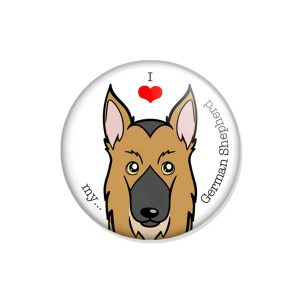 "crachá ou íman ""I love my German Shepherd"""