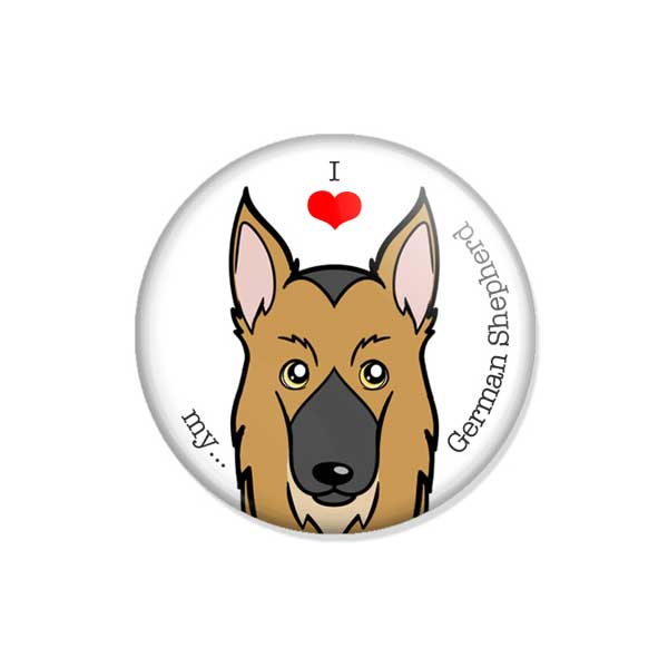 "crachá ou íman ""I love my German Shepherd"""