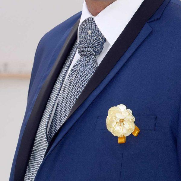 flor de lapela casamento alexandra calado & vítor calado