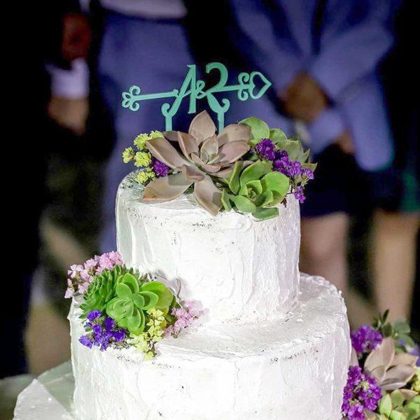 topo de bolo casamento ana vieira & ricardo conceicao