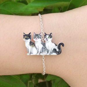 pulseira gatinhos personalizada