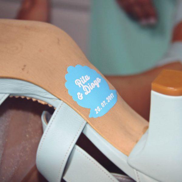 "autocolantes para sapatos ""rita & diogo, 26.07.2017"""