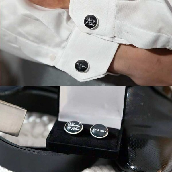 """botões de punho """"claudia & rui, 29. 04. 2017"""""""
