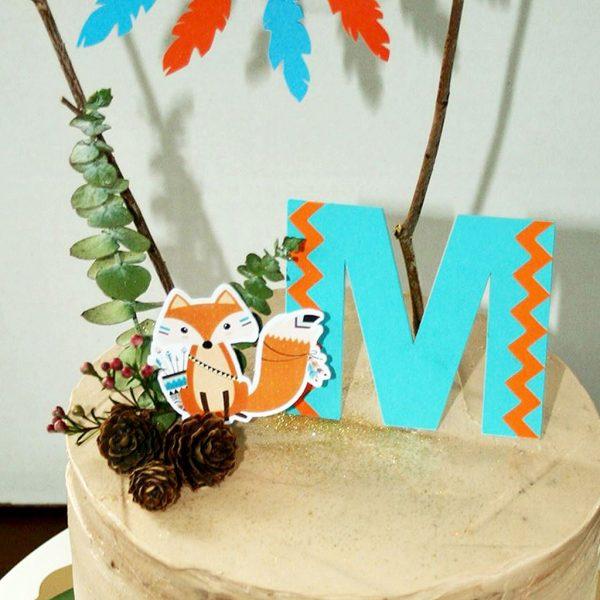 """topo de bolo aniversário """"M"""""""
