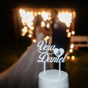 topo de bolo casamento vera p. e daniel