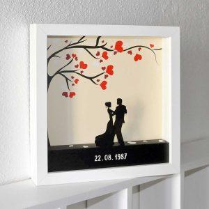 quadro 3d casamento